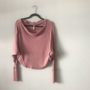Maeve Free People Off Shoulder Thermal LS